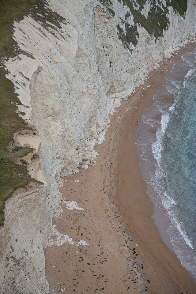 The white cliffs near Durdle Door, Dorset