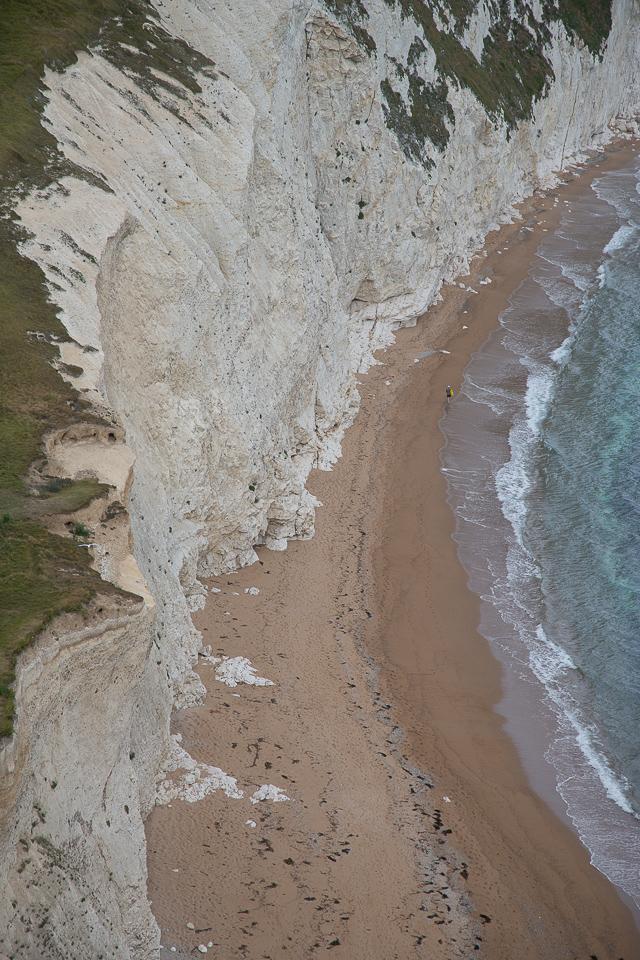 The white cliffs near Durdle Door, Dorset