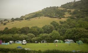 The campsite at Osmington Mills, Dorset