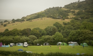 The campsite at Osmington Mills, Dorset