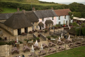 A great place for a beer & meal at the Smugglers Inn, Osmington Mills, Dorset