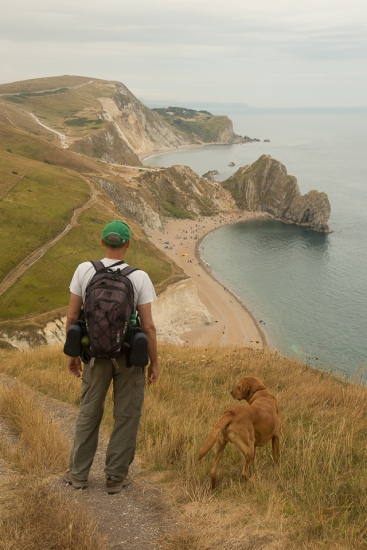 View of Durdle Door with Charlie & Rusty